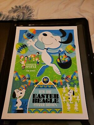 Tom Whalen It's The Easter Beagle Charlie Brown poster print #158/300 snoopy