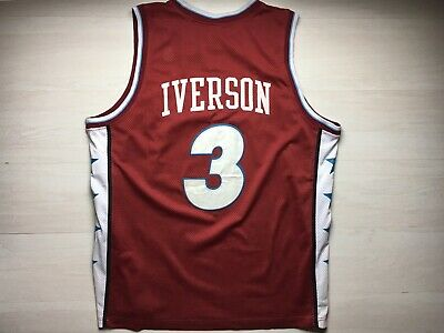 the latest 5617a 0513d NIKE PHILADELPHIA 76ERS Sixers Allen Iverson Red Throwback Jersey XXXL
