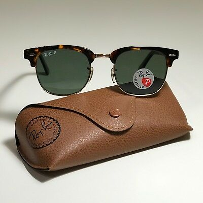 914ee4fabfe New Ray-Ban Clubmaster Classic LARGE Tortoise RB3016 990 58 51-21 POLARIZED
