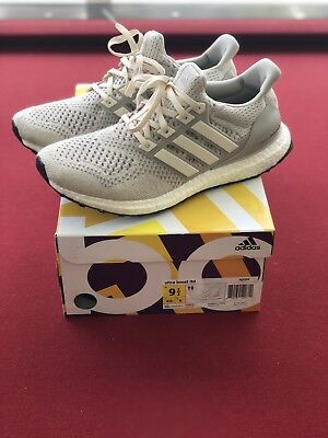 74fd61d694f MENS 2015 ADIDAS Ultra Boost Aq5559 1.0 Cream Chalk Shoes Size 10 ...