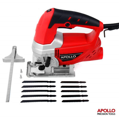 Hi-Spec 600W Power Electric Jigsaw with Quick Blade-Change Safety Clamp,...
