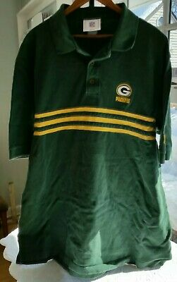 72dbeed8 ANTIGUA GREEN BAY Packers NFL Football Yellow Butter Cream Polo ...