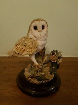 Country Artists Barn Owl with Horse Brasses