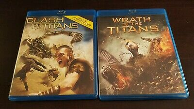 Clash of the Titans & Wrath of the Titans Blu-Ray set/lot/collection