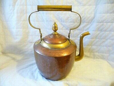 Antique Large Copper And Brass Kettle Hammered Finish Architectural Brass Handle