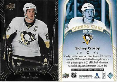 2016-17 Ud Series 1 Shining Stars  Sidney Crosby#ss-30 Brand New