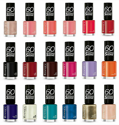 RIMMEL Nail Polish 60 SECONDS/RITA ORA Assorted Shades 8ml - Free Shipping