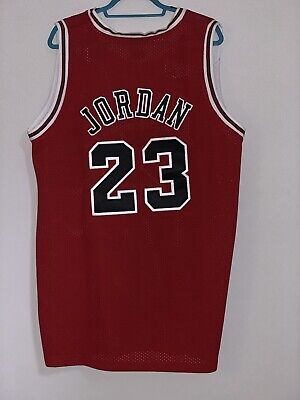 huge discount b18a0 5e1a0 MICHAEL JORDAN JERSEY Authentic Nike Red Size 48 Chicago Bulls # 23 NBA  FINALS