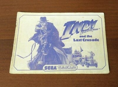 Indy And The Last Crusade Sega Master System Instruction Manual Indiana Jones Ms