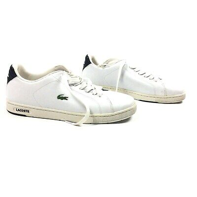 37d2f686e Lacoste Sport Mens Leather Sneakers Green Croc White Size 13USA 12UK 47EUR