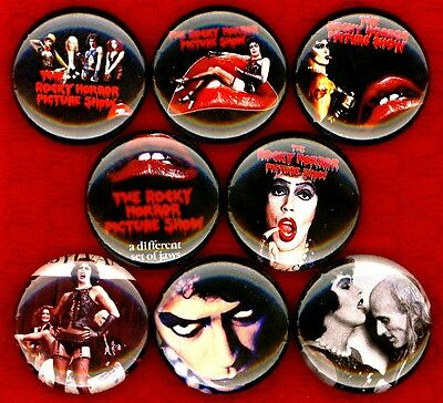 Rocky Horror Picture Show x 8 NEW pins button badge rhps the stocking stuffer
