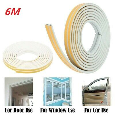12M Draught Excluder Weather Seal Strip Noise Insulation Door Window Sticky Tape
