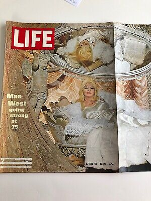 Life Magazine, April 18, 1969 Mae West going strong at 75.