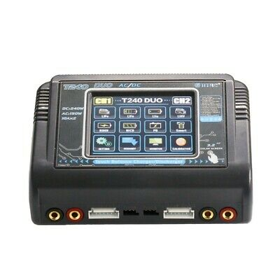 HTRC T240 DUO AC 150W DC 240W 10A Touch Screen Dual Channel Battery Balance