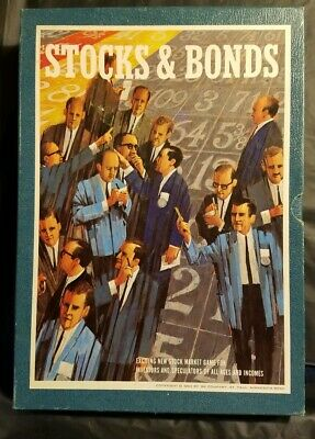 Vintage 1964 3M Stocks & Bonds Bookshelf Board Game Pristine Condition Complete