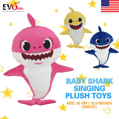 Baby Shark Rubber//Plush Singing Plush Toys Music Doll English Song Toy Kids-Gift