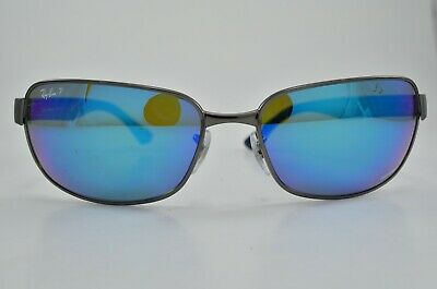 795a7ded28 AUTHENTIC RAY-BAN RB3566-CH 004 A1 Polarized GunMetal Blue ...