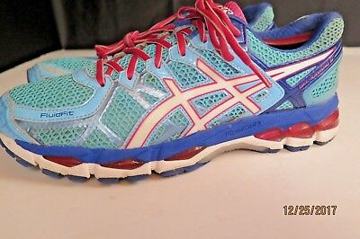Asics Gel-Kayano 21 Women s Lace-Up Running Shoes Blue and White Size 11 79c27d1c53b
