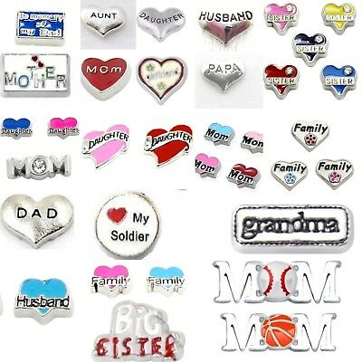 Buy 3, Get 2! FAMILY Floating Charms 56 STYLES  for Living Locket Mom Dad Nana