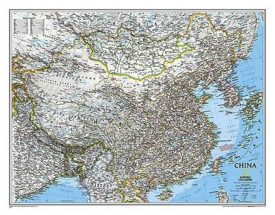 China NGS 765 x 595mm Laminated Wall Map