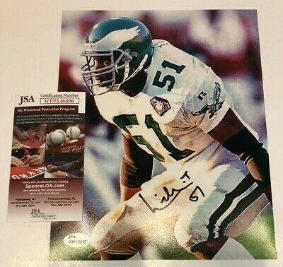 ccedc67611b WILLIAM THOMAS AUTOGRAPHED SIGNED PHILADELPHIA EAGLES 8x10 PHOTO JSA COA
