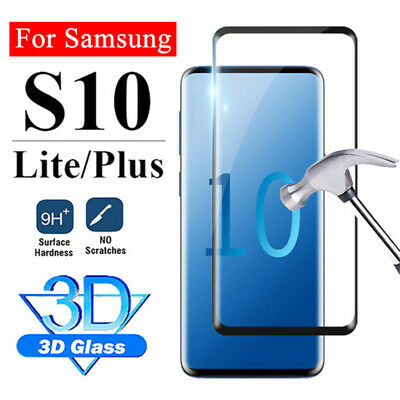 For Samsung Galaxy S10 Plus S10 S10 Lite 3D Curved Tempered Glass Screen Protect