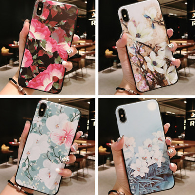 Non-Slip Flowers Leaves Pattern Pretty Soft TPU Cover Case for IPhoneX/XS/MAX/XR