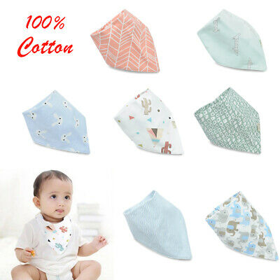 Hot Baby Boy/Girl Infant Cotton Bandana Bibs Feed Saliva Towel Dribble Triangle