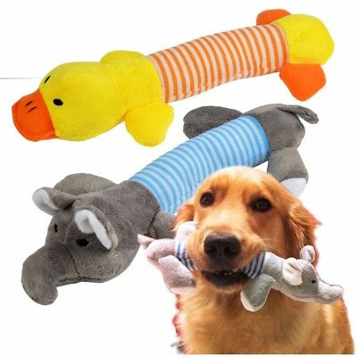 New Squeaky Plush Sound Pig Elephant Duck For Dog Pet Puppy Toys Chew Squeaker