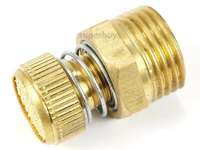 "1/2"" NPT Adjustable Spring Pneumatic Silencer Brass Flow Muffler Exhaust Valve"