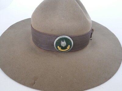 Old Vintage SCOUT HAT with badge - For small size head