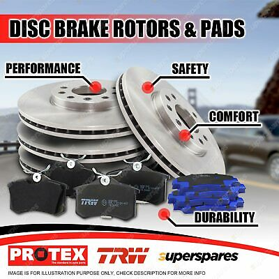 Front + Rear Disc Brake Rotors Brake Pads For Volvo XC90 D5 Front 336mm Rotor