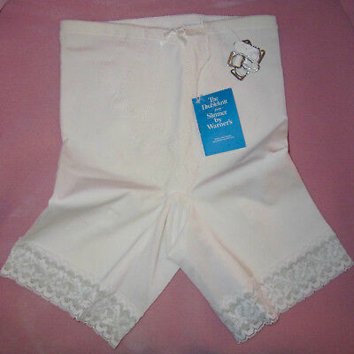 NOS Vintage Warner's Doubleknit Body Slimmer Panty Girdle Large Long Leg 418