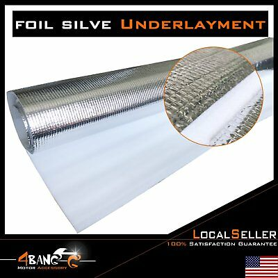 "Flooring Underlayment Silver Padding Insulation Reflective 3 in 1 3mm 1/8"" Thick"
