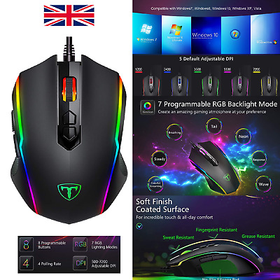 VICTSING WIRED RGB Gaming Mouse 7250 DPI Professional 16 8 Million
