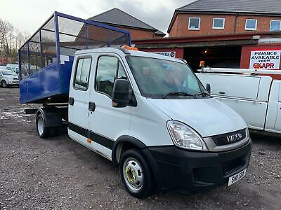 2011 (11) Iveco Daily 35C14 3.0 Eev Lwb Crew Cab Caged Tipper Truck