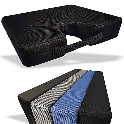 Medipaq® MEMORY FOAM Wedge Cushion with COCCYX CUT-OUT for Back Support and - -