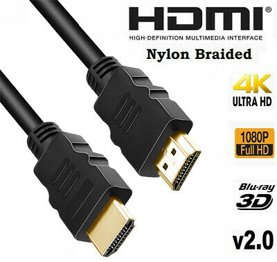 V2.0 High Speed HD HDMI Audio Cable UHD 4K 3D 1080P Ethernet HDTV LED DVD BLURAY