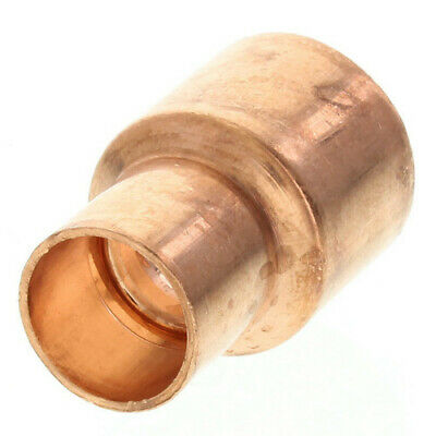 """1-1/2"""" x 1"""" inch Copper Solder Coupling with Stop Sweat  CxC"""