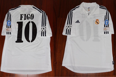 22b2e9a3a80 Real madrid jersey centenary 2001 2002 ucl final figo short sleeve playera  shirt