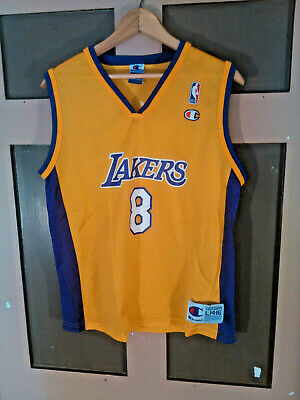 bb9b9fe666d Vintage Champion Los Angeles Lakers Jersey  8 Kobe Bryant NBA Youth Large