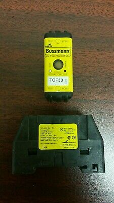 Cooper Bussmann TCF30 30A Fuse and TCFH60N Fuse Block Holder 600V