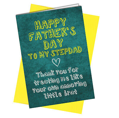 #955 FATHERS DAY CARD Step Dad Rude / Funny