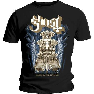 Official Ghost Ceremony And Devotion T-Shirt Meliora Pray Days Change Prequelle