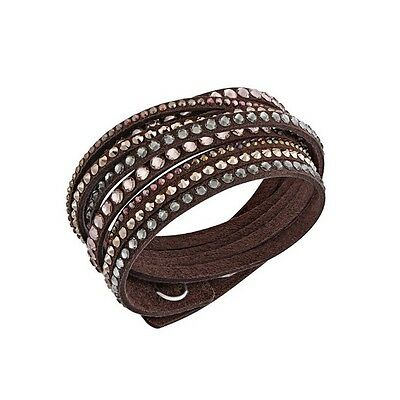 Bracciale Swarovski Slake Brown deluxe 2 in 1 marrone Donna bracelet 5141349 new