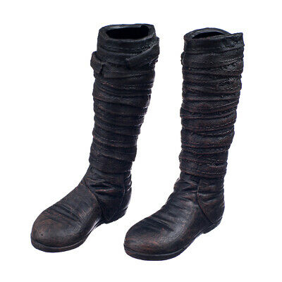"""1/6 Combat Knee High Boots Shoes Accessories for 12"""" Male Action Figure"""