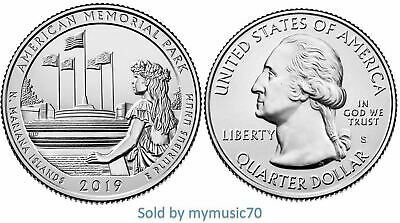 2019 S American Memorial Park - N. Mariana Islands Quarter (MP) **ON HAND** *