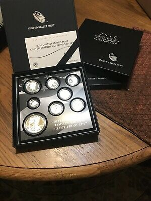United States Mint Limited Edition 2014 Silver Proof Set With COA IN OGP