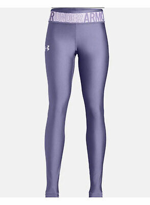 Under Armour Girls Heatgear Armour Leggings - Purple