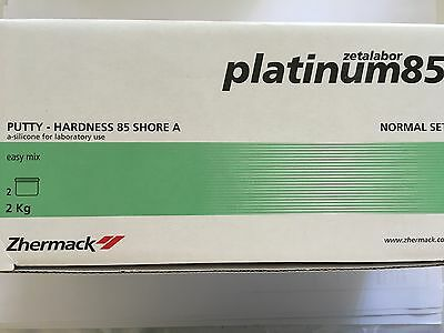 Dental lab putty Zetalabor platinum 85 1kg base+1kg catalyst Zhermack